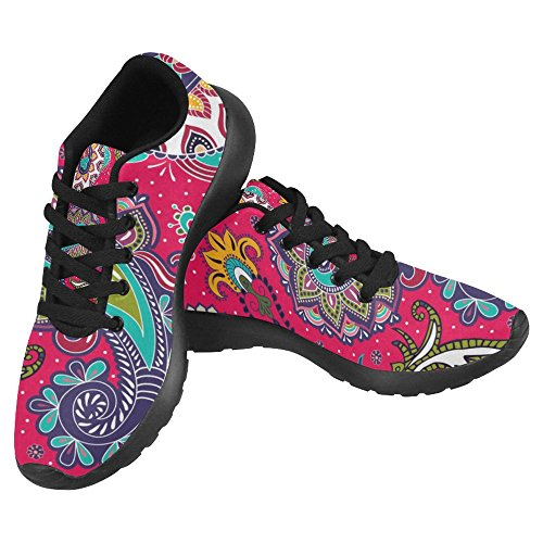 InterestPrint Women's Jogging Running Sneaker Size 8 Seamless Paisley by InterestPrint