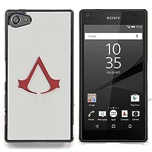 """Qstar Arte & diseño plástico duro Fundas Cover Cubre Hard Case Cover para Sony Xperia Z5 Compact Z5 Mini (Not for Normal Z5) (Asesinos A"""")"""