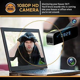 State-of-The-Art Wireless Hidden Camera Clock | Motion Detection Alarm Clock Camera | Spy Camera Clock with Night Vision | HD Recording Camera Clock | Clock Spy Camera & Hidden Cam Remote