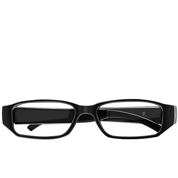 Umanor Cámara oculta Gafas, cámara del espía de la manera, registrador video del lazo, mini cámaras de la nana, negro: Amazon.es: Electrónica