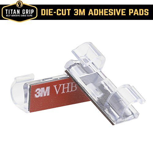cable clips with strong selfadhesive pads no tools