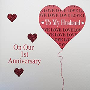 1st anniversary cards for husband