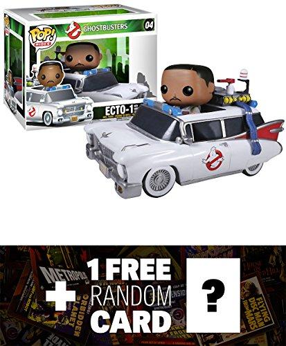 Winston Zeddmore & Ecto-1: Funko POP! Rides x Ghostbusters Vinyl Figure + 1 FREE Classic Sci-fi & Horror Movies Trading Card Bundle [39820]