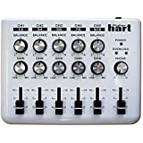 "Maker Hart LOOP MIXER - Portable Audio Mixer with 5 Channels, 5 x 1/8"" Stereo and 1/4"" Mono to Stereo DM2S Adapter"