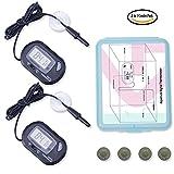 2-Pcs Aquarium Digital Thermometers include 4-Pcs Batteries for Fish Tank