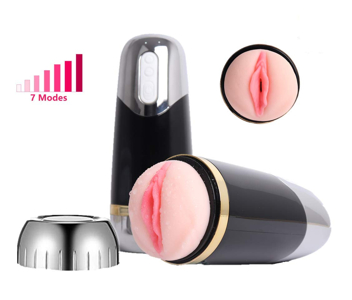 Male Masturbation Cup, BEISHIDA 7 Vibration Modes Electric Male Masturbation Cup Realistic Oral Sex Toys with Powerful Thrusting for Intense Stimulation