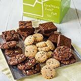 Dancing Deer Chocolate Bliss 24 Gourmet Chocolate Cookies, Shortbreads and Brownies in a Gift Box