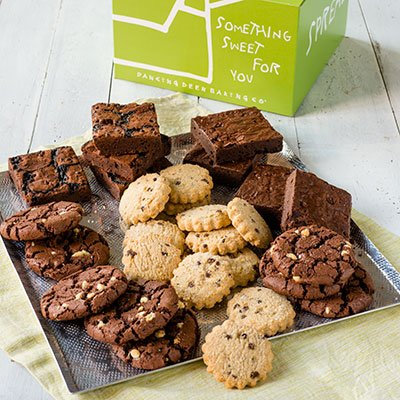 - Dancing Deer Chocolate Bliss 24 Gourmet Chocolate Cookies, Shortbreads and Brownies in a Gift Box