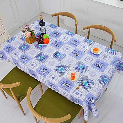 - yiukh Waterproof, oilproof, Anti-scalding PVC Lattice Coffee Table, Home Dormitory Tablecloth, Small Fresh v12 60100cm