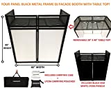 DJ Event Facade White/Black Scrim Metal Frame Booth + 20'' x 40'' Flat Table Top Includes Both White and Black Panels + Carrying Cases!
