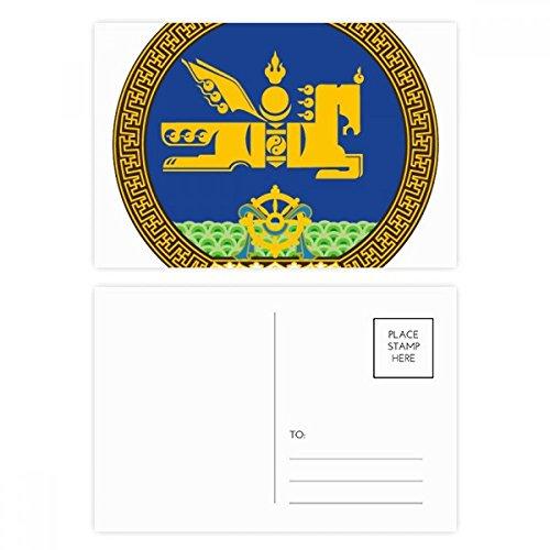 - Mongolia National Emblem Postcard Set Birthday Thanks Card Mailing Side 20pcs