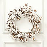 ADSRO 12-24inch Cotton Wreath- Home Decor Floral Artificial Wreath Bouquet for Front Door