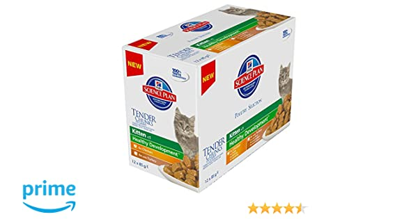 Hills Feline Kitten Multipack Chicken & Turkey Comida para Gatos - Paquete de 12 x 85 gr - Total: 1020 gr: Amazon.es: Productos para mascotas