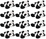 Wildlife Tree 3.5 Inch Panda Mini Small Stuffed Animals Bulk Bundle of Zoo Animal Toys or Jungle Safari Party Favors for Kids Pack of 12
