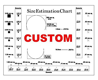 CUSTOM Size Estimation Chart (Transparency) for defects