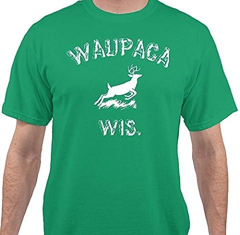 Stranger Things - Dustin's Waupaca, Wisconsin T-Shirt by Sweet Tees™ - Green - Medium - Thing Mens Hoodie