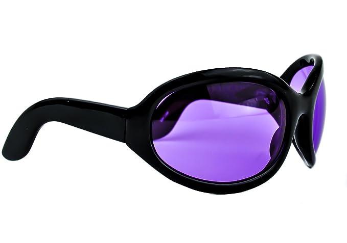Amazon.com: Morado lente anteojos de sol de gran tamaño Sexy ...