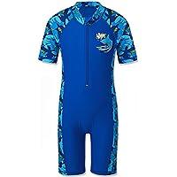 TFJH E Kids Boys Swimsuit UPF 50+ UV Sun Protective One-Piece Fish