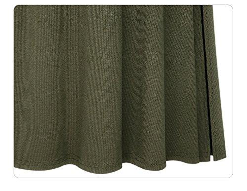 Verte A Line Length Femmes Oudan Front Ceinture Maxi Longue Full Taille Swing lgante Jupe Arme Slit Haute aFTxHwBgqx