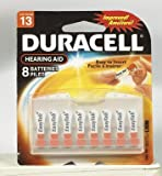 Duracell Zinc Air Hearing Aid Battery 1.4 V (5 pack)(each pack containing 8 batteries)