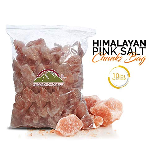 Himalayan Glow Himalayan Salt Rock Chunks - 10lbs. Bag - Food Grade, Pure and Natural with Minerals and Nutrients - Himalayan Salt Rocks