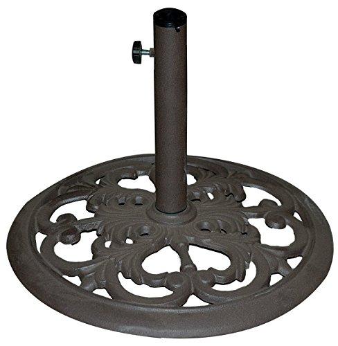 TropiShade 30-Pound Bronze Powder-Coated Cast Iron Umbrella Stand (Renewed)