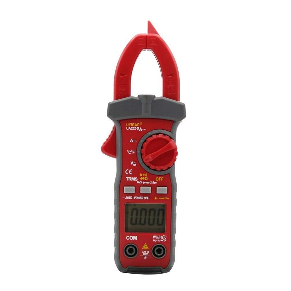 Digital UA220D Handheld Digital LCD Clamp Meter Multimeter DC/AC Voltage AC/DC Current Resistance Temperature Frequency Duty Precise