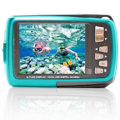 SVP Aqua 5500 (Blue) 18 MP Dual Screen Waterproof Digital Camera by SVP (Image #1)