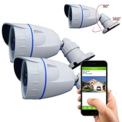 Coolcam Outdoor HD720P Wireless WiFi IP Camera Smartphone CCTV Security Surveillance 2way Audio Camera with Night Vision and Motion Detect Free P2P Cloud Connection Service with QR Code