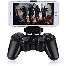 Megadream Bluetooth Android Phone Holder, Telescopic Gaming Clamp Clip Mount for Sony Playstation PS3 DualShock 3 Controller with D-Pad Cap Samsung Galaxy, HTC, Huawei, LG, Google Nexus, Nokia - Black