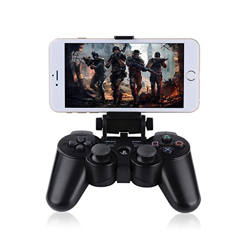Megadream? Angle View Adjustable Android Smart Phone Mount Bracket Storage Holder for Sony PS4 Dualshock 4 Controller Gamepad with OTG Data Cable¡­