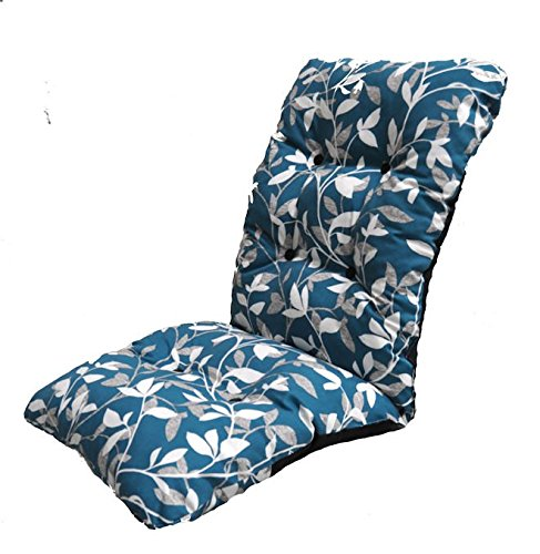 Replacement Deluxe Thick High Back Garden Chair Thick Cushion Pad Ashley Blue Glendale
