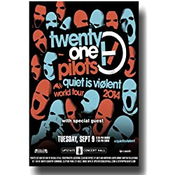 Twenty One Pilots Poster - Concert 11 X 17 21p Twentyone Quiet Is Violent Tour UPS