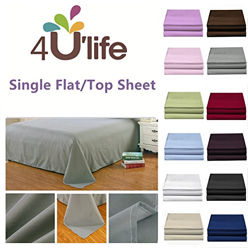 Flat sheet-Ultra soft & Confortable Microfiber,Light-blue,King (King Flat Sheet Blue)