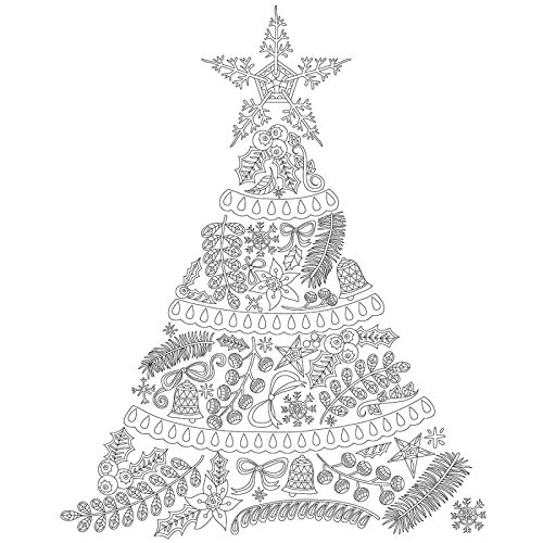 Kaisercolour Coloring Poster 27X19-Christmas Tree Kaisercraft 43992177