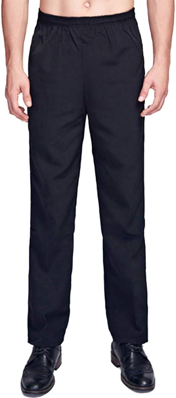 Piatti, M S, Piatti Nanxson Pantaloni da Cuoco da Uomo Hotel Kitchen Pantaloni da Lavoro Uniformi a Righe e Plaid CFM2004