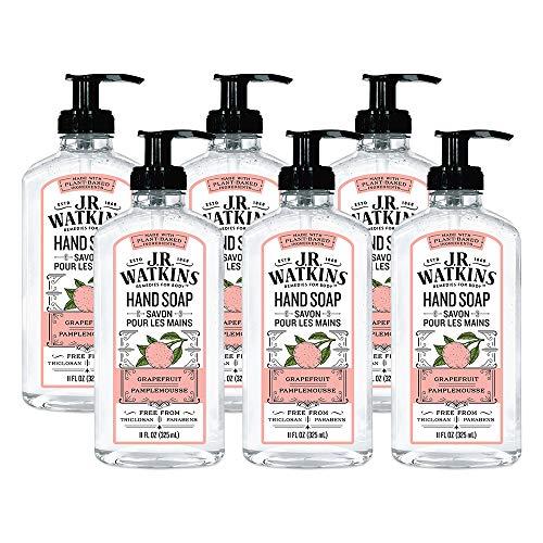 J.R. Watkins Hand Soap, Gel, 11 fl oz, Grapefruit (6 pack)