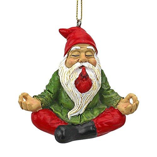 Ornaments Christmas Garden - Christmas Ornament - Garden Gnomes Figurine - Zen Garden Gnomes - Meditating Gnome Statues