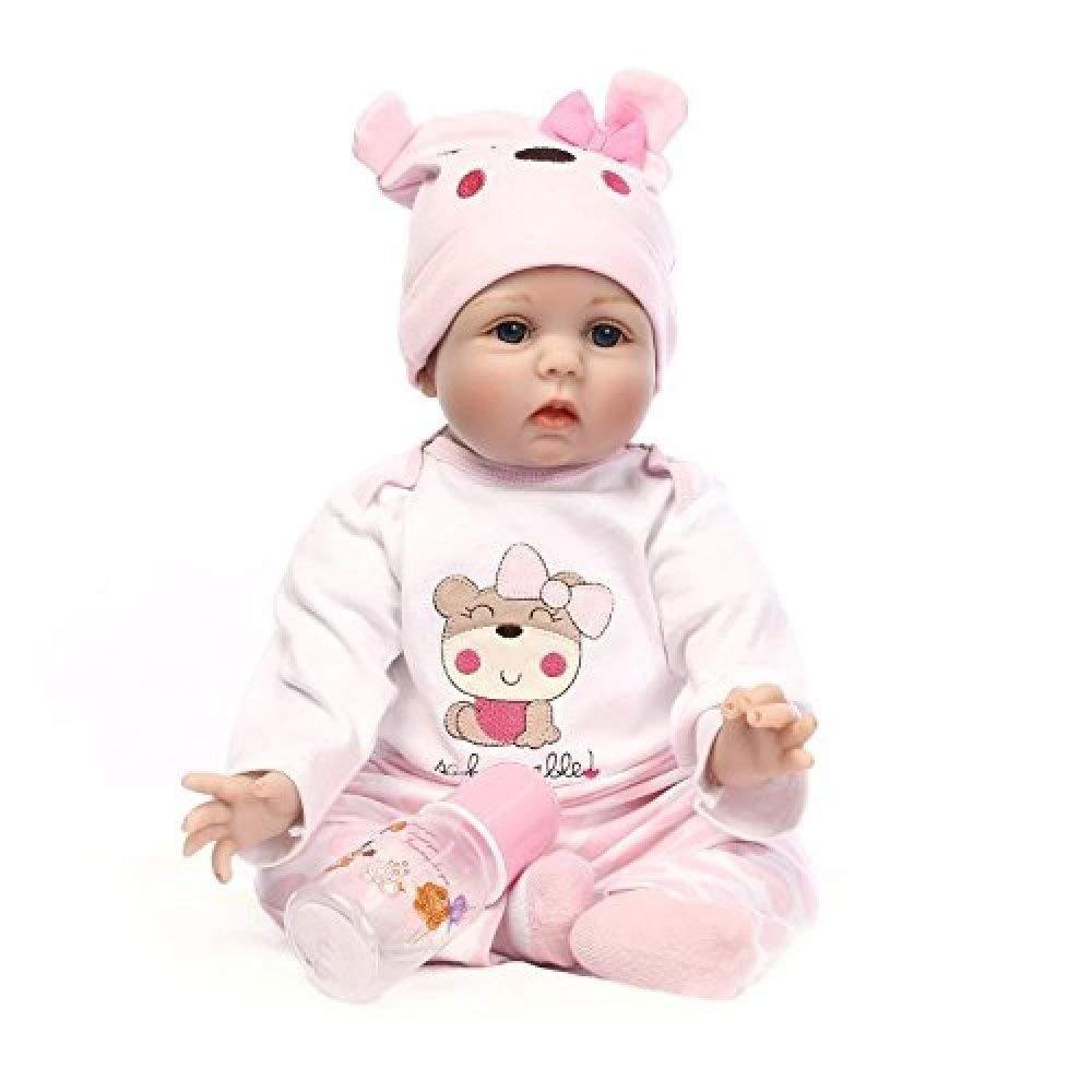 Naturgetreues Spielzeug Reborn Baby Doll Weiche Simulation Zoll Silikon Vinyl 22 Zoll Simulation 55 cm Magnetischen Mund Lebensechte Jungen Mädchen Spielzeug, A Puppe (Farbe   A) 65e33c