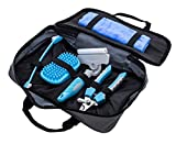 Pet Bath Care Kit Shedding Brush, Large Nail - Claw clipper, Toothbrush, Massage - deshedding Brush, Quick Drying Towel Set includes tools for any size of animal - small medium big dog cat ferret etc.