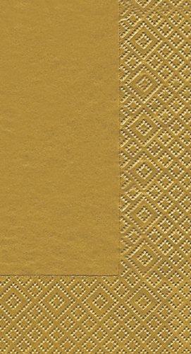 16 Servilletas Uni Toalla de oro 40 x 33 cm, 3 capas, servilletas,
