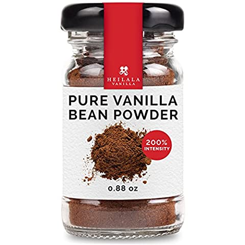 Heilala Vanilla Ground Vanilla Bean Powder (0.88 oz) 100% Pure Vanilla, Alcohol Free, Sugar Free, Award Winning, Hand Picked in - Tahitian Whole Bean Coffee