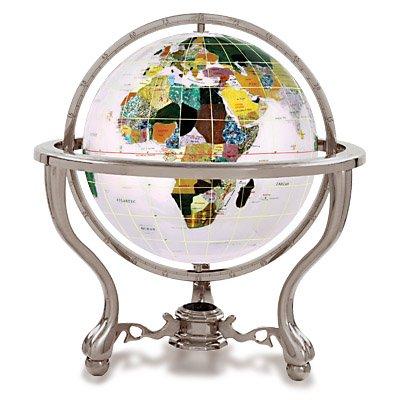 Kalifano Opal 6-in. Commander Gemstone Tabletop Globe