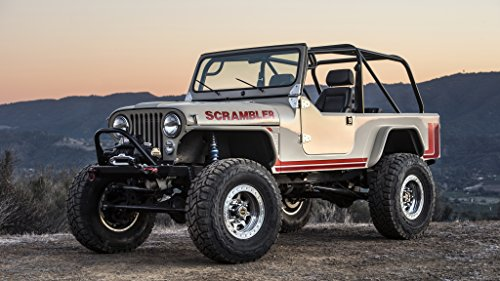 Jeep CJ-8 Scrambler by Legacy (2016) Car Print on 10 Mil Archival Satin Paper White Front Side Static View 16