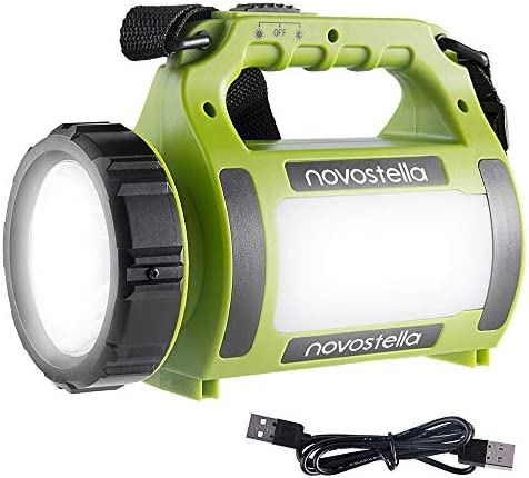Novostella Rechargeable CREE LED Spotlight, Multi-Functional Camping Lantern, Waterproof LED Searchlight, Hurricane Lantern, High Power Beam Flashlight,2000mAh