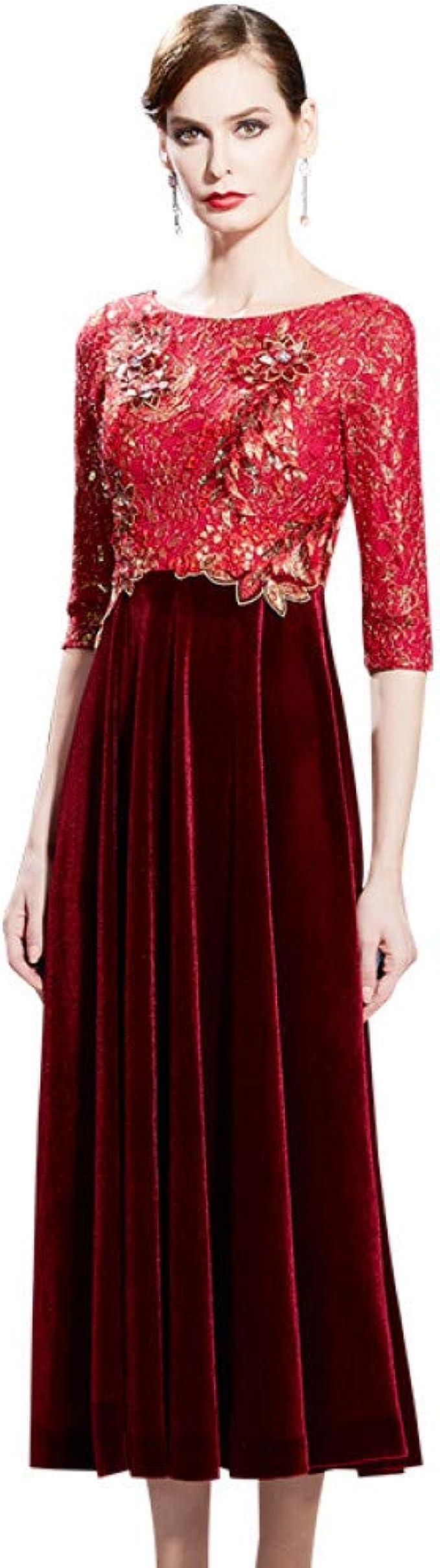 BINGQZ Kleid Cocktailkleider Mutter Hochzeitskleid 9 Sommer
