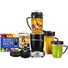 Eat smart with the NutriBullet -the most technologically advanced NutriBullet to date. Powered by hands-free smart technology and a 1700-Watt motor, The NutriBullet RX breaks fruits, vegetables, nuts, seeds, and other superfoods down into sil...