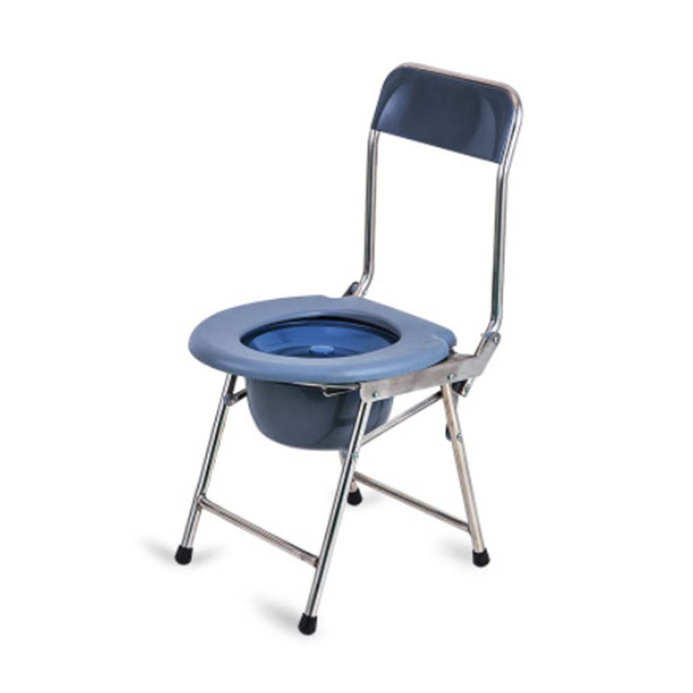 Bedside Commode Steel Commode Foldable Pregnant Woman Elderly Simple Household Toilet Mobile Toilet Chair Healthcare Tools