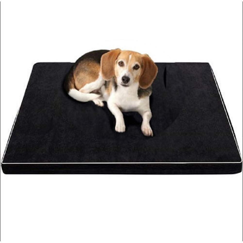 Medium Dog Bed Detachable Memory Foam Dog Pad Pet Mat Slow Rebound Kennel Crate for Medium and Large Dogs,M