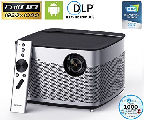 Home Theater Projector, XGIMI H1 Native 1080p HD DLP Projector Android Smart 3D Projector TV with Harman/Kardon Customized Subwoofer Stereo, LiveTV Services by LiveTV.Direct
